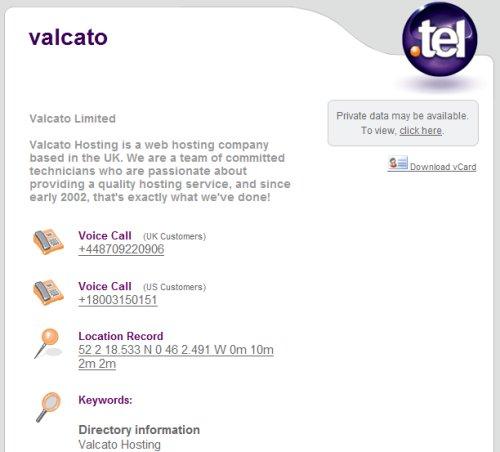 .tel domain template